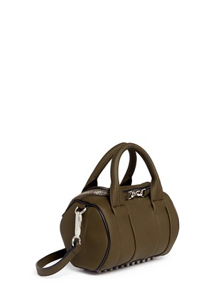 Front View - Click To Enlarge - Alexander Wang  - 'Mini Rockie' pebbled leather duffle bag