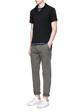 Figure View - Click To Enlarge - Scotch & Soda - 'Stuart' garment dyed slim fit chinos