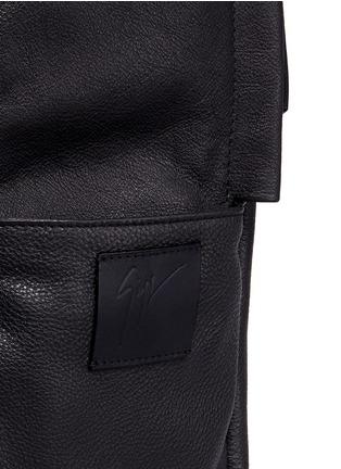 - Giuseppe Zanotti Design - Logo plate leather backpack
