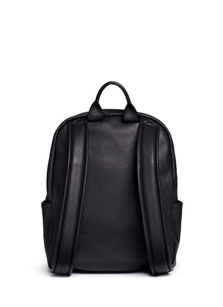 Back View - Click To Enlarge - Giuseppe Zanotti Design - Logo plate leather backpack