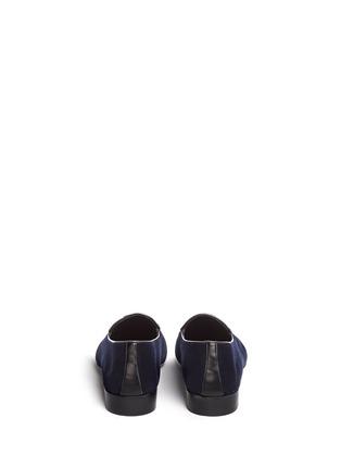 Back View - Click To Enlarge - Giuseppe Zanotti Design - 'Cut 15' clamp velvet loafers
