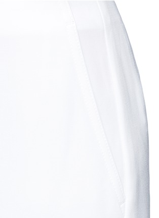 Detail View - Click To Enlarge - Theory - 'Ambrisia' cropped wide leg stretch crepe pants