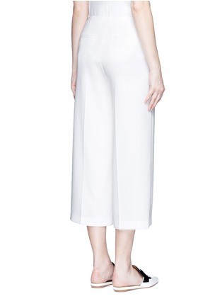Back View - Click To Enlarge - Theory - 'Ambrisia' cropped wide leg stretch crepe pants