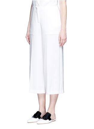 Front View - Click To Enlarge - Theory - 'Ambrisia' cropped wide leg stretch crepe pants