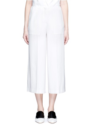 Main View - Click To Enlarge - Theory - 'Ambrisia' cropped wide leg stretch crepe pants