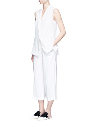 Figure View - Click To Enlarge - Theory - 'Ambrisia' cropped wide leg stretch crepe pants