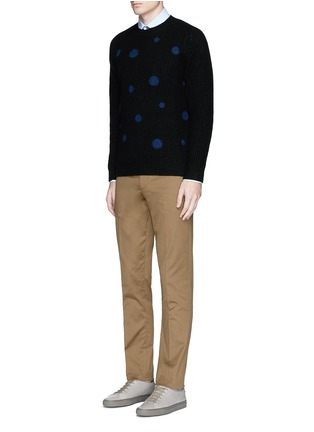 Figure View - Click To Enlarge - PS Paul Smith - Polka dot intarsia wool sweater