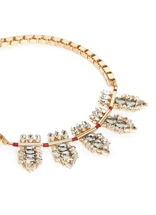 Detail View - Click To Enlarge - Anton Heunis - Swarovski crystal cluster box chain necklace