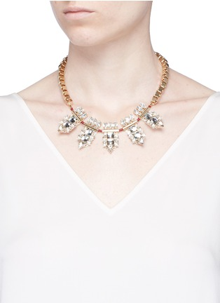 Figure View - Click To Enlarge - Anton Heunis - Swarovski crystal cluster box chain necklace