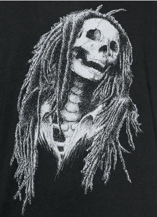 Detail View - Click To Enlarge - Palm Angels - 'Metal Skull' Bob Marley print T-shirt