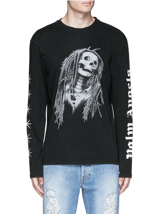 Main View - Click To Enlarge - Palm Angels - 'Metal Skull' Bob Marley print T-shirt