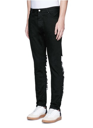 Front View - Click To Enlarge - Palm Angels - Regular fit ladder ripped jeans