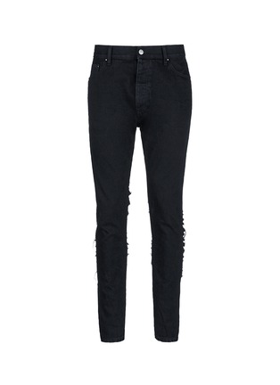 Main View - Click To Enlarge - Palm Angels - Regular fit ladder ripped jeans