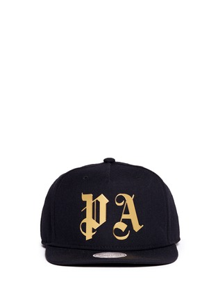 Main View - Click To Enlarge - Palm Angels - x Mitchell & Ness glossy logo print baseball cap