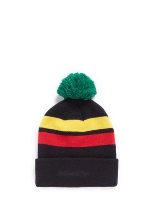 Figure View - Click To Enlarge - Palm Angels - 'Rastafari' stripe pompom beanie