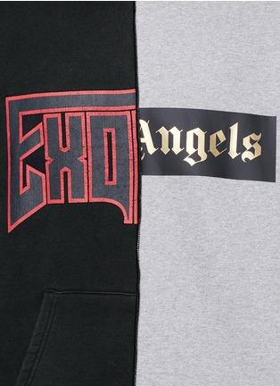 Detail View - Click To Enlarge - Palm Angels - 'Exoangels' hybrid print hoodie