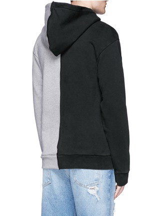 Back View - Click To Enlarge - Palm Angels - 'Exoangels' hybrid print hoodie
