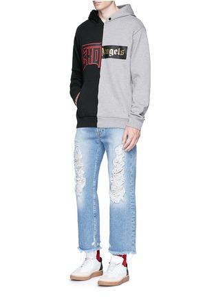 Figure View - Click To Enlarge - Palm Angels - 'Exoangels' hybrid print hoodie