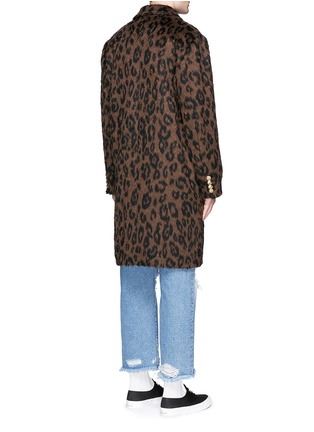 Back View - Click To Enlarge - Palm Angels - Leopard print mohair blend coat