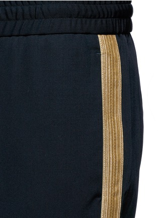 Detail View - Click To Enlarge - Palm Angels - 'Comfy' side stripe wool jogging pants