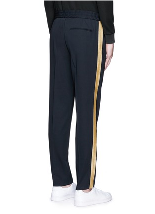 Back View - Click To Enlarge - Palm Angels - 'Comfy' side stripe wool jogging pants
