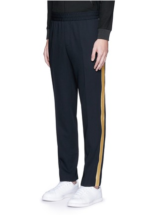 Front View - Click To Enlarge - Palm Angels - 'Comfy' side stripe wool jogging pants