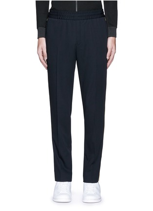 Main View - Click To Enlarge - Palm Angels - 'Comfy' side stripe wool jogging pants