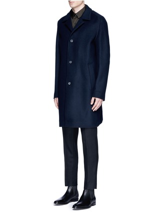 Front View - Click To Enlarge - Wooyoungmi - Piped sleeve balmacaan coat