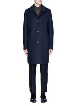 Main View - Click To Enlarge - Wooyoungmi - Piped sleeve balmacaan coat