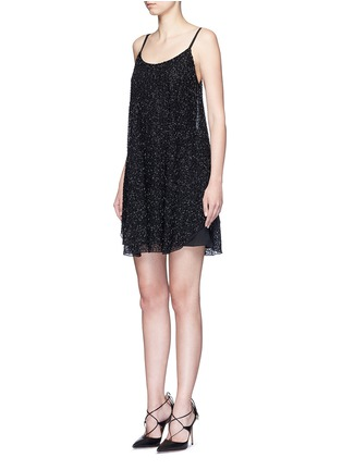 Front View - Click To Enlarge - alice + olivia - 'Rhi' beaded sheer strappy dress