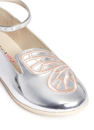 Detail View - Click To Enlarge - Sophia Webster - 'Bibi Butterfly' embroidery mirror leather toddler ballerina flats