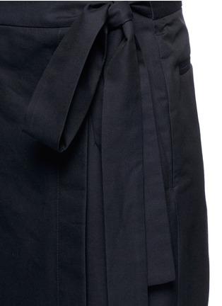 Detail View - Click To Enlarge - Dries Van Noten - 'Patra' wrap apron cotton-silk pants