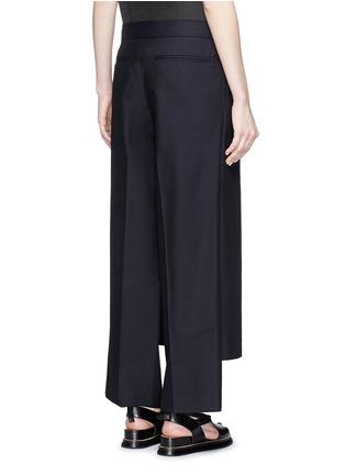 Back View - Click To Enlarge - Dries Van Noten - 'Patra' wrap apron cotton-silk pants