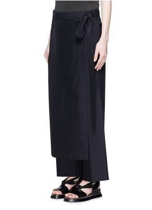 Front View - Click To Enlarge - Dries Van Noten - 'Patra' wrap apron cotton-silk pants
