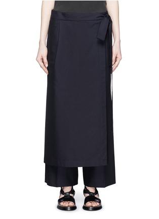 Main View - Click To Enlarge - Dries Van Noten - 'Patra' wrap apron cotton-silk pants
