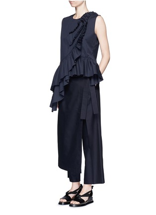 Figure View - Click To Enlarge - Dries Van Noten - 'Patra' wrap apron cotton-silk pants