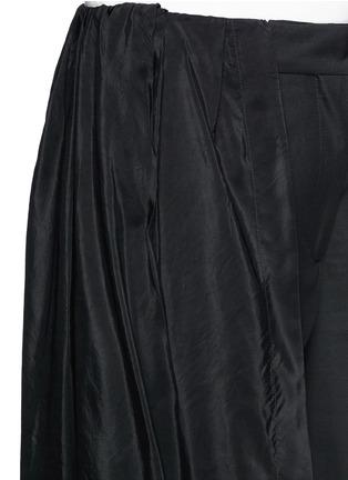 Detail View - Click To Enlarge - Dries Van Noten - 'Pedra' skirt wrap cotton-silk pants