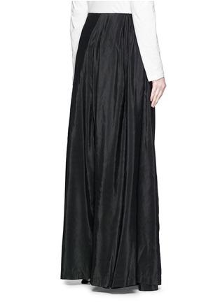 Back View - Click To Enlarge - Dries Van Noten - 'Pedra' skirt wrap cotton-silk pants