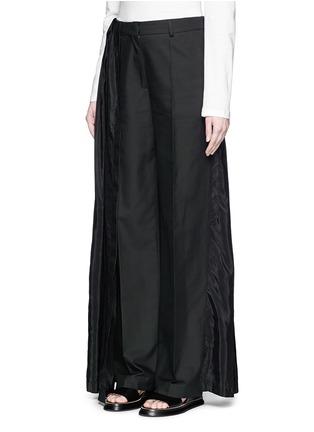 Front View - Click To Enlarge - Dries Van Noten - 'Pedra' skirt wrap cotton-silk pants