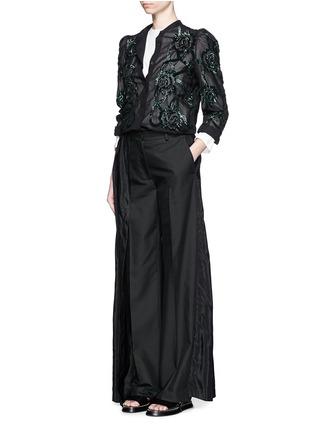 Figure View - Click To Enlarge - Dries Van Noten - 'Pedra' skirt wrap cotton-silk pants