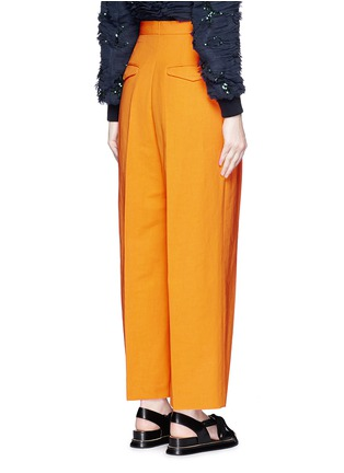 Back View - Click To Enlarge - Dries Van Noten - 'Pranis' cotton blend pants