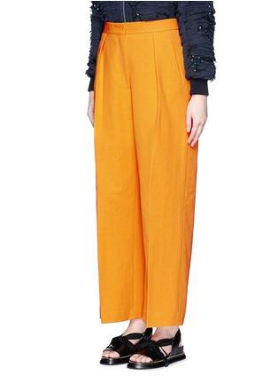 Front View - Click To Enlarge - Dries Van Noten - 'Pranis' cotton blend pants
