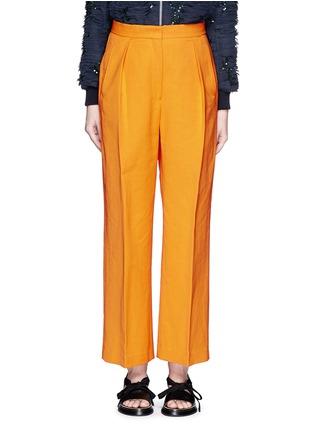 Main View - Click To Enlarge - Dries Van Noten - 'Pranis' cotton blend pants