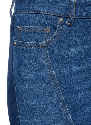 Detail View - Click To Enlarge - Alexander McQueen - Patchwork cropped flared denim pants