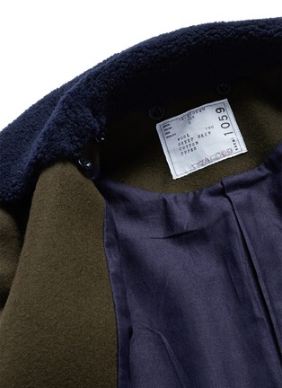 - Sacai - Shearling underlay wool military coat