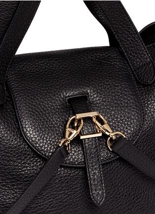 - Meli Melo - 'Thela' medium pebbled leather trapeze tote