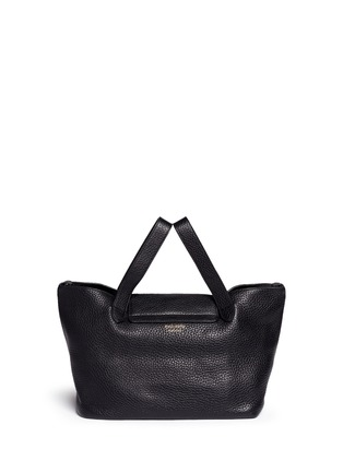 Back View - Click To Enlarge - Meli Melo - 'Thela' medium pebbled leather trapeze tote