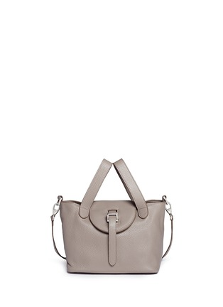 Main View - Click To Enlarge - Meli Melo - 'Thela' mini pebbled leather trapeze tote