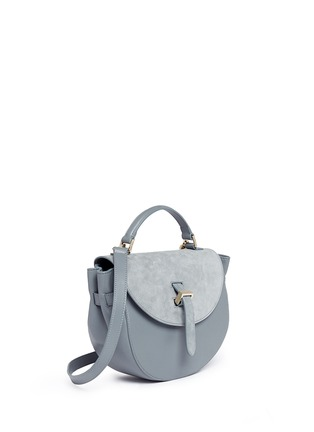 Front View - Click To Enlarge - Meli Melo - 'Ortensia' suede flap leather saddle bag