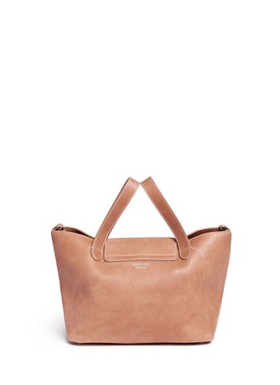 Back View - Click To Enlarge - Meli Melo - 'Thela' medium leather trapeze tote
